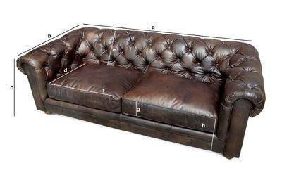 Divano Chesterfield 3 Posti.Divano Chesterfield Scuro A 3 Posti Stile Country Pib
