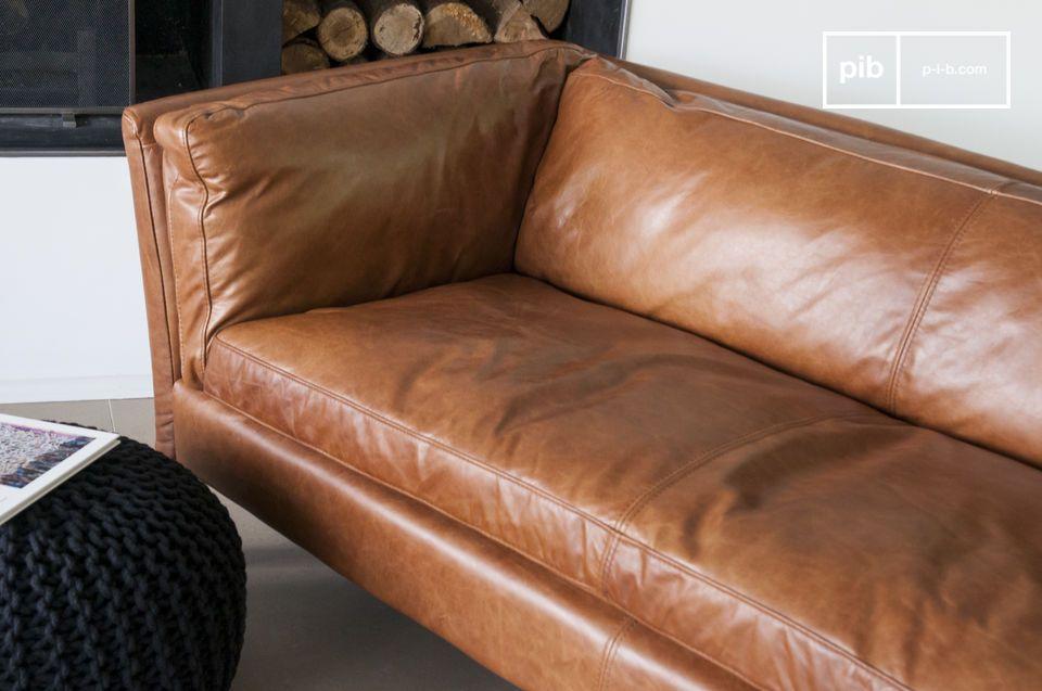 Probabilmente uno dei divani in pelle più riusciti
