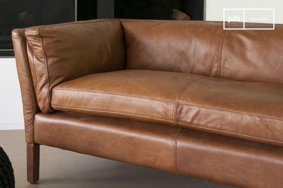 Divano in pelle Hamar - Stile vintage e alta qualità. | pib