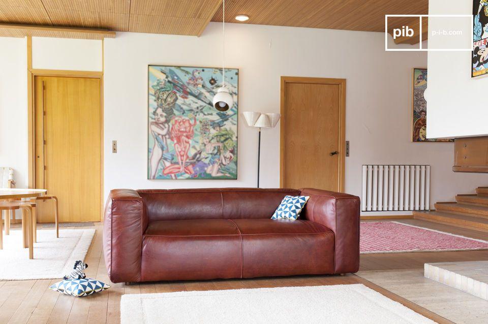 Un eccezionale divano di pelle vintage