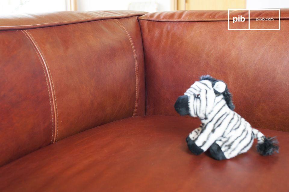 L\'estetica unica del divano è tipicamente di natura vintage