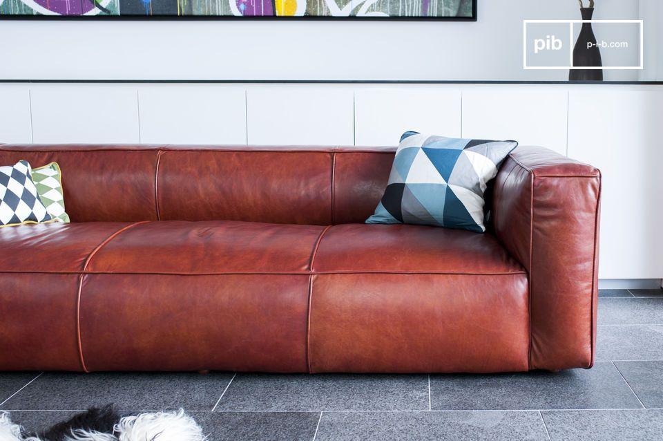 Divano vintage Krieger - Eccezionale divano in pelle | pib