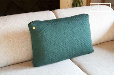Grande cuscino Quilt verde scuro