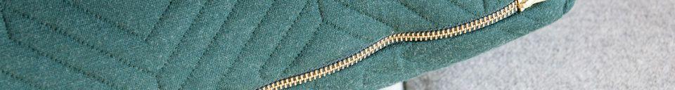 Materiali prima di tutto Grande cuscino Quilt verde scuro