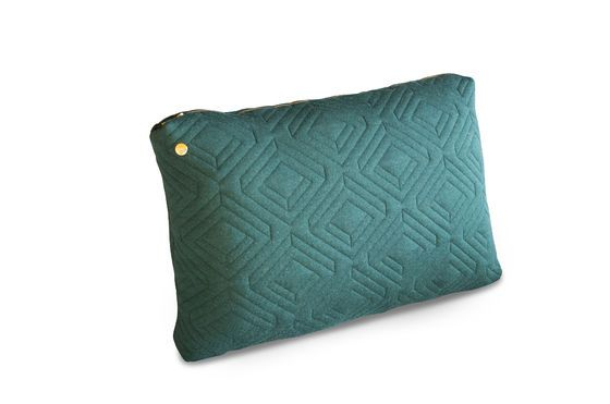 Grande cuscino Quilt verde scuro Foto ritagliata