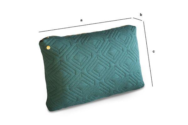 Dimensioni del prodotto Grande cuscino Quilt verde scuro