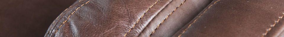 Materiali prima di tutto Grande divano in pelle Sanary