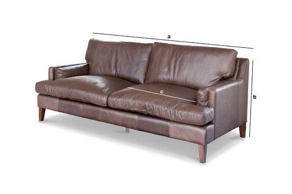 Dimensioni del prodotto Grande divano in pelle Sanary