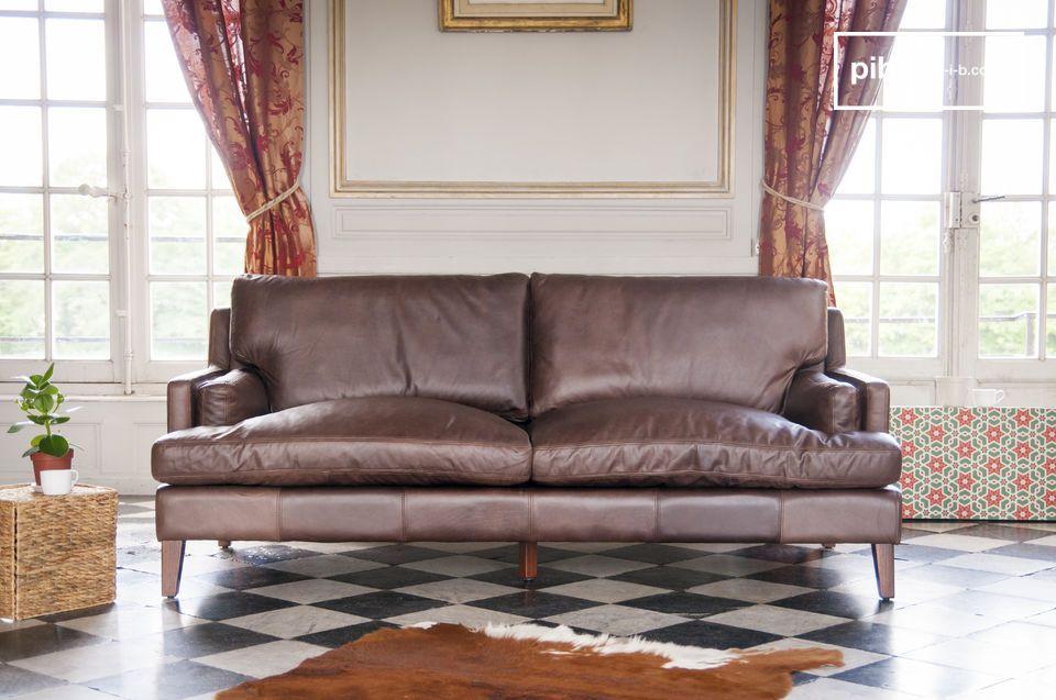 Grande divano in pelle Sanary