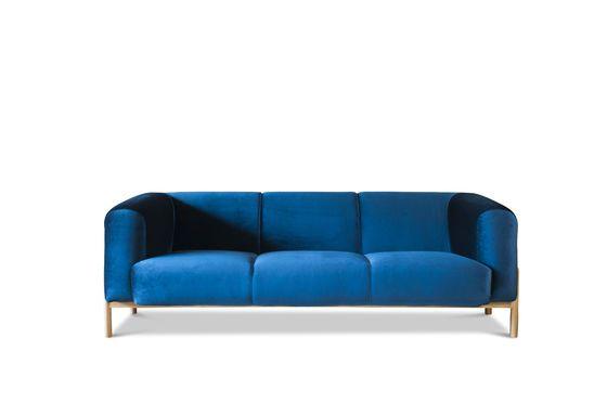 Grande divano in velluto Viela Foto ritagliata