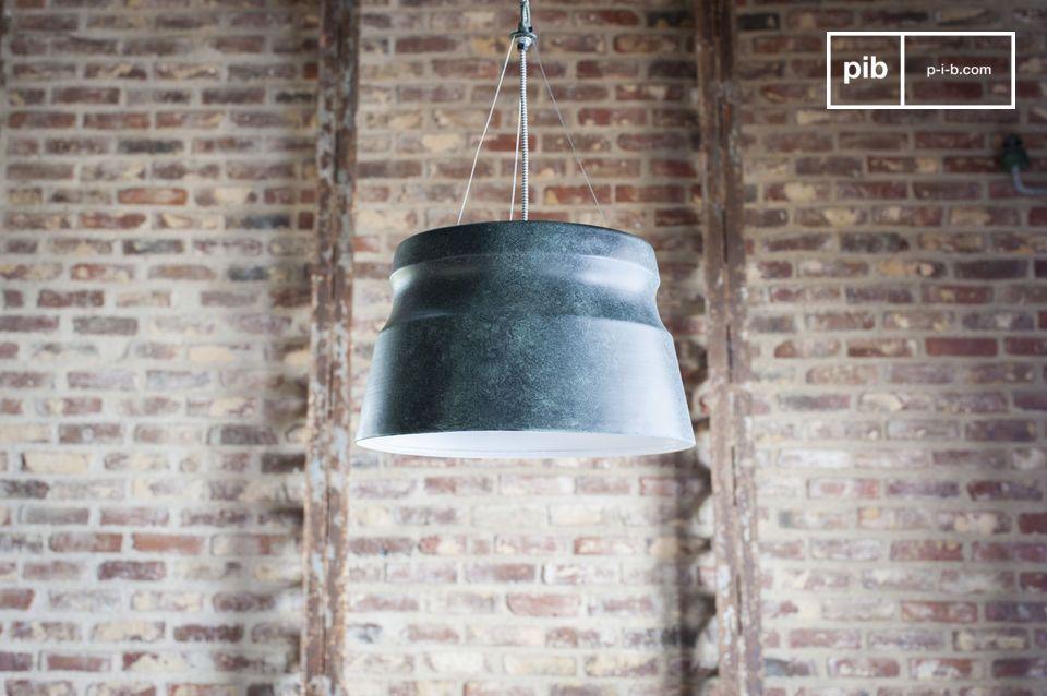 Una lampada grafica con accenti industriali
