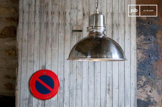 Grande lampadario argentato Lynce