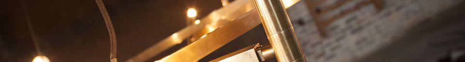 Materiali prima di tutto Grande lampadario in ottone Izaar