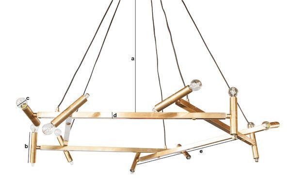 Dimensioni del prodotto Grande lampadario in ottone Izaar