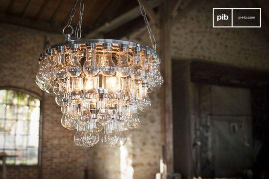 Grande lampadario in vetro Mille Goccie