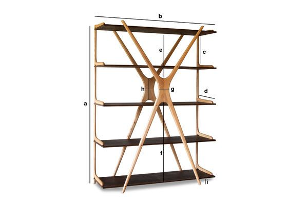Dimensioni del prodotto Grande libreria in legno Waverly