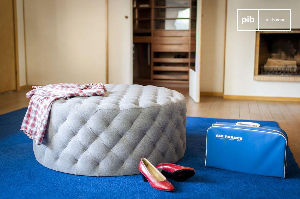 Ben noto Grande pouf imbottito Durham - Design sobrio | pib SW23