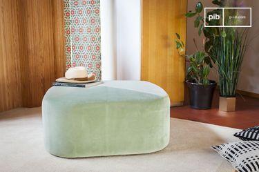 Grande pouf in velluto verde Skagen
