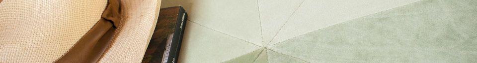 Materiali prima di tutto Grande pouf in velluto verde Skagen
