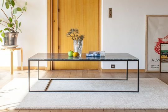 Grande tavolino in marmo verde Avedore