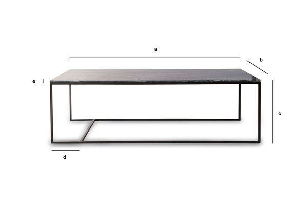 Dimensioni del prodotto Grande tavolino in marmo verde Avedore