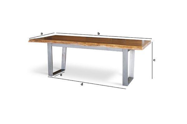 Dimensioni del prodotto Grande tavolo da pranzo Avallan