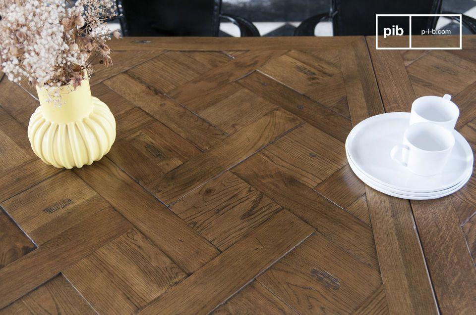 Grande tavolo da pranzo Queens - in legno di quercia | pib