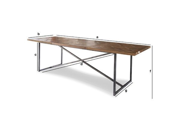 Dimensioni del prodotto Grande tavolo da pranzo Queens