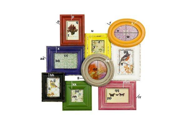 Dimensioni del prodotto Guazzabuglio di cornici colorate