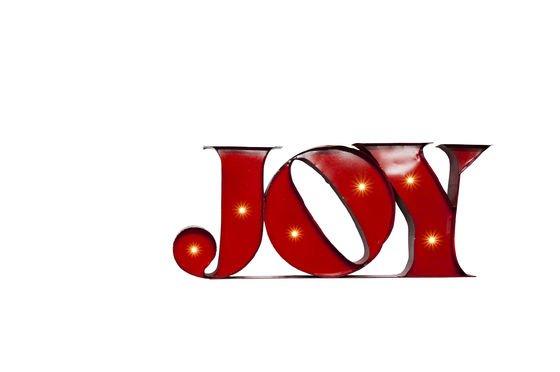 Insegna Luminosa Joy Foto ritagliata