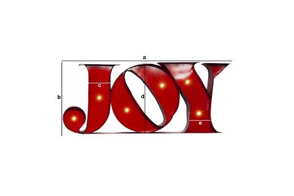 Dimensioni del prodotto Insegna Luminosa Joy
