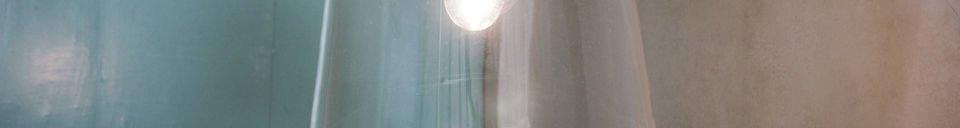 Materiali prima di tutto Lampada a sospensione a campana di vetro
