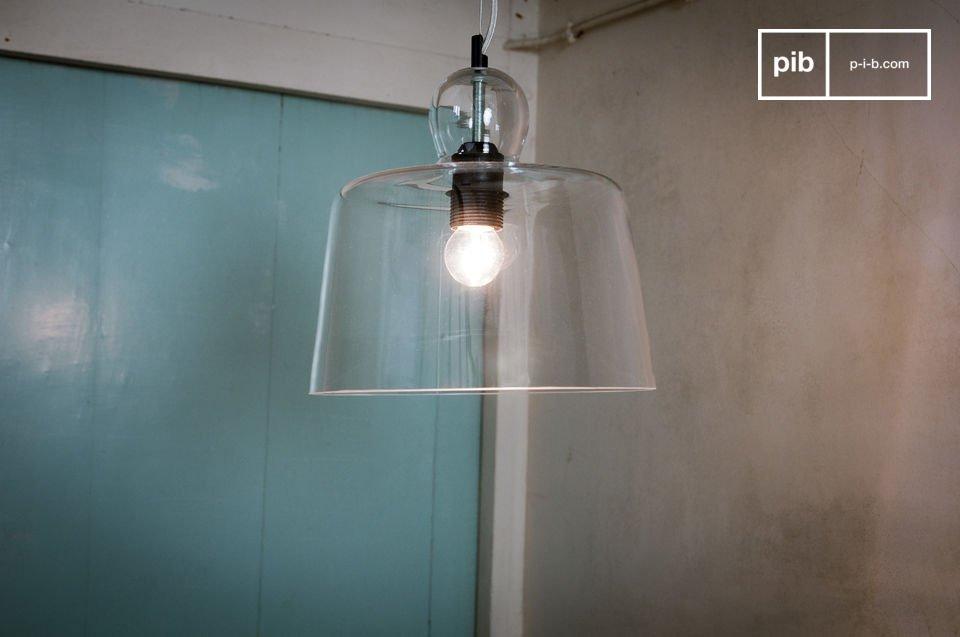 Lampada a sospensione a campana di vetro pib