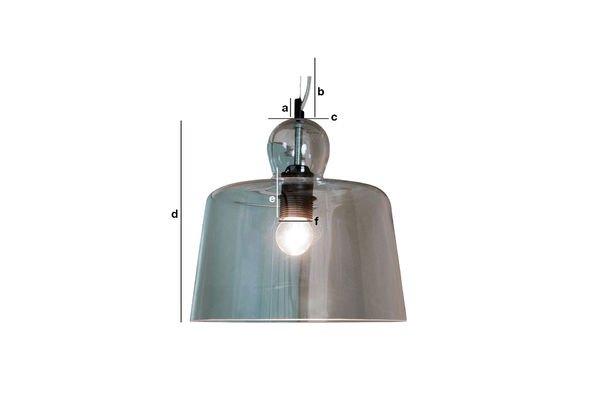 Dimensioni del prodotto Lampada a sospensione a campana di vetro