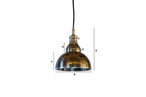 Dimensioni del prodotto Lampada a sospensione argentata Olonne