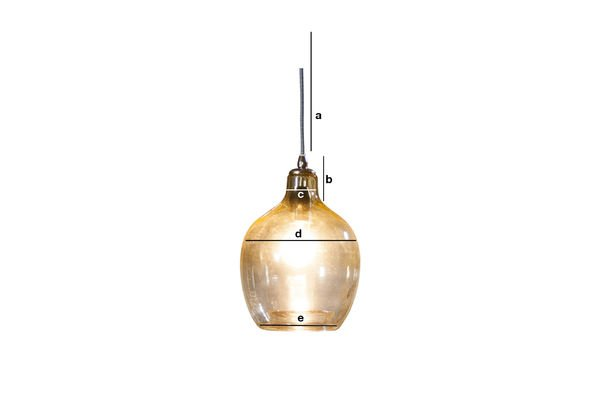 Dimensioni del prodotto Lampada a sospensione Belvedere