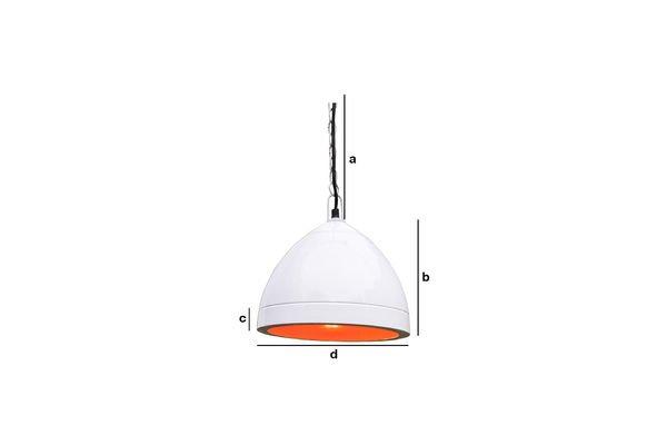 Dimensioni del prodotto Lampada a sospensione bianca Këpsta