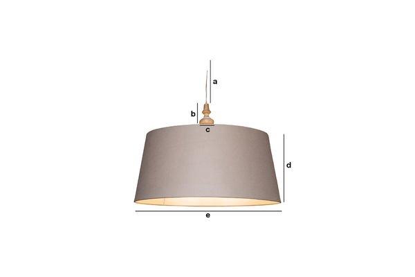 Dimensioni del prodotto Lampada a sospensione Bilboquet