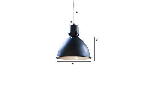 Dimensioni del prodotto Lampada a sospensione black Industrial