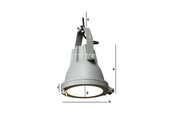 Dimensioni del prodotto Lampada a sospensione Cast