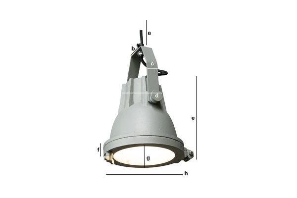 Dimensioni del prodotto Lampada a sospensione Cast Weissmuller