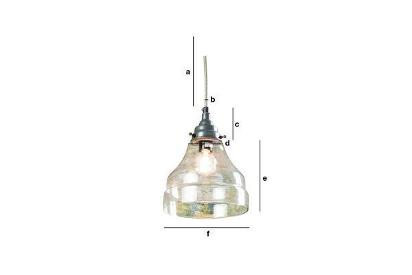 Dimensioni del prodotto Lampada a sospensione Conica in vetro