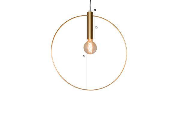 Dimensioni del prodotto Lampada a sospensione dorata Oohalt