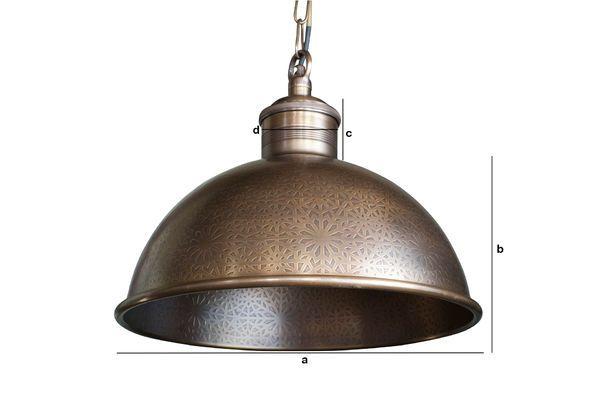 Dimensioni del prodotto Lampada a sospensione in metallo cesellato Orient Express