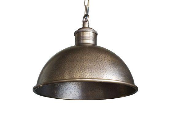 Lampada a sospensione in metallo cesellato Orient Express Foto ritagliata