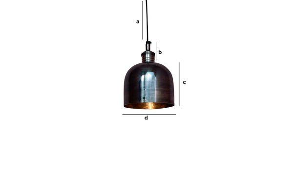 Dimensioni del prodotto Lampada a sospensione in nichel Warhead