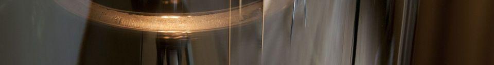 Materiali prima di tutto Lampada a sospensione in vetro Elixir