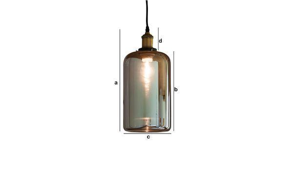 Dimensioni del prodotto Lampada a sospensione in vetro Elixir