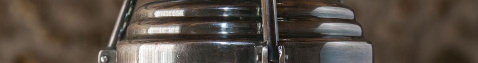 Materiali prima di tutto Lampada a sospensione in vetro Hoonui