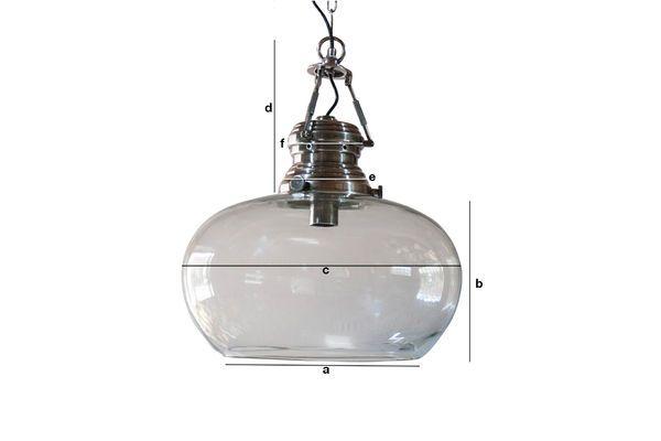 Dimensioni del prodotto Lampada a sospensione in vetro Hoonui